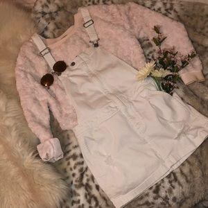 White Overall mini Dress